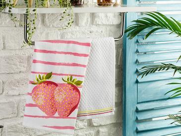 Strawberry Pamuk 2'li Kurulama Bezi 40x60 Cm Pembe