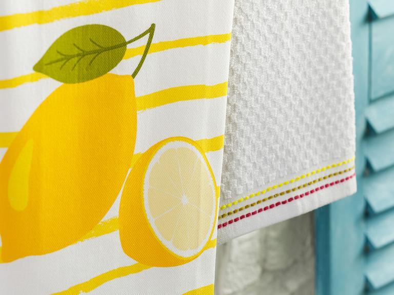 Lemon Pamuk 2'li Kurulama Bezi 40x60 Cm Sarı