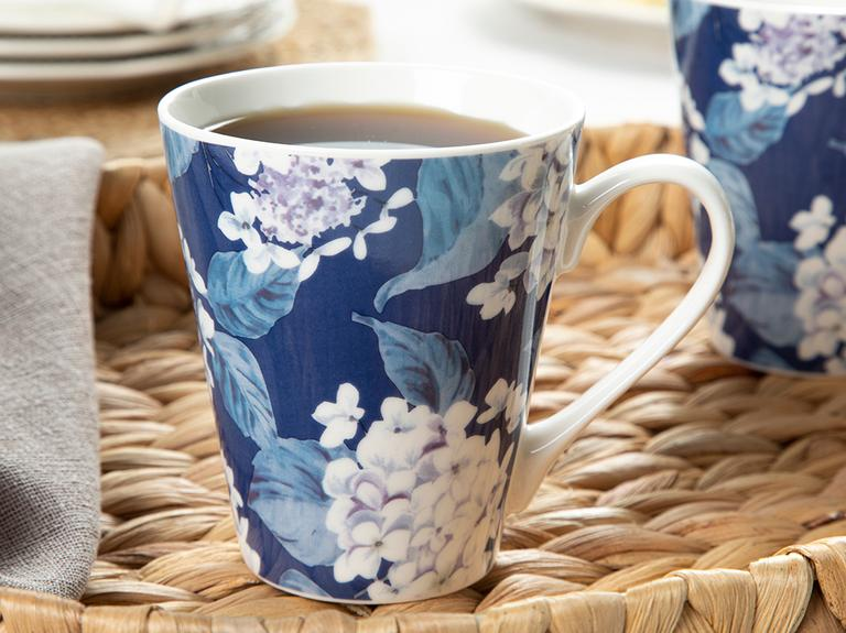 Malvina Porselen 2'li Kupa 325 Ml Lacivert-bej