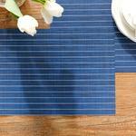 Vanity %75 Pvc %25 Polyester 4'lü Amerikan Servis 45x30 Cm Lacivert