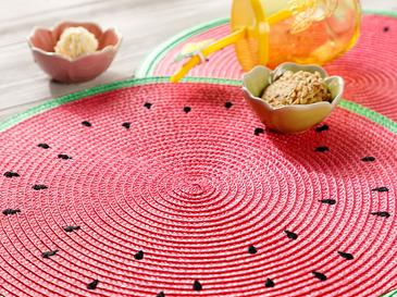 Watermelon Polyester 2'li Amerikan Servis 38 Cm Kırmızı