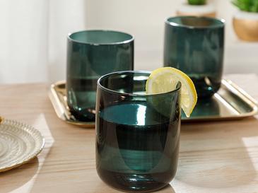 Pia Cam 3'lü Meşrubat Bardağı 270 Ml Koyu Yeşil