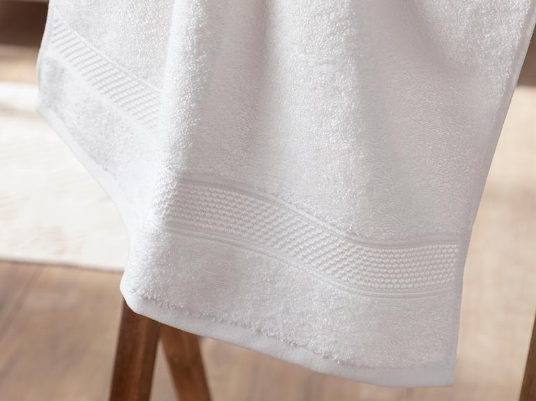 Wave Fluffy Yüz Havlusu 50x100 Cm Beyaz