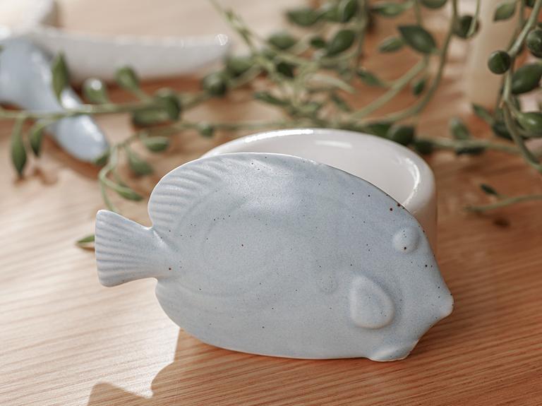 Fish Dekoratif Obje 7,5x6x5,5 Cm Mavi