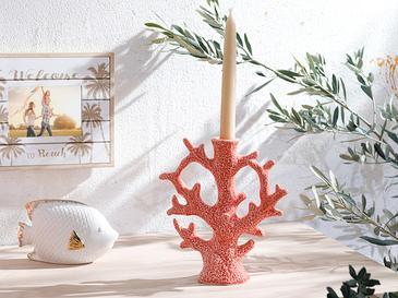Coral Şamdan 19x7x20,5 Cm Turuncu