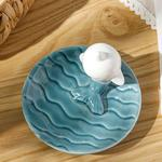 Whale Dekoratif Tabak 10,4x10,4x7 Cm Mavi
