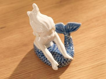 Mermaid Biblo 8,3x3x7 Cm Mavi