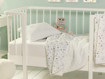 Dandelion Pamuklu Yastıklı Bebe Yorgan Set 95x145 Cm Gri