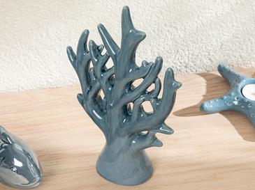Blue Coral Dekoratif Obje 16x6x24 Cm Lacivert