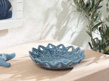 Blue Coral Dekoratif Tabak 19.5x19.5x5 Cm Lacivert
