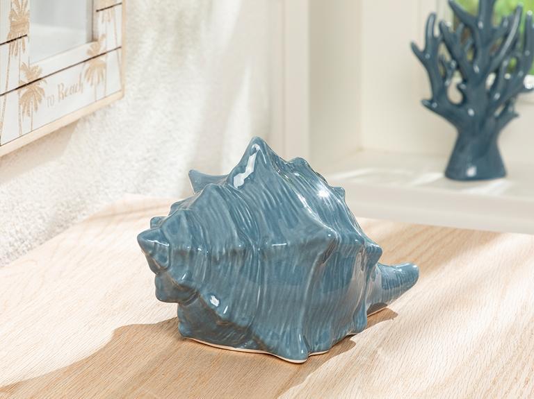 Conch Dekoratif Obje 19.7x14x12 Cm Mavi