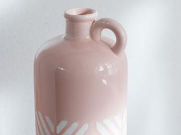 Bottle Vazo 11.3x11.6x36.5 Cm Pembe