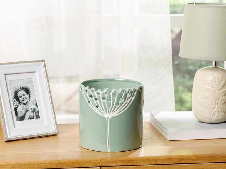 Dandelion Saksı 12.6x12.6x13 Cm Yeşil