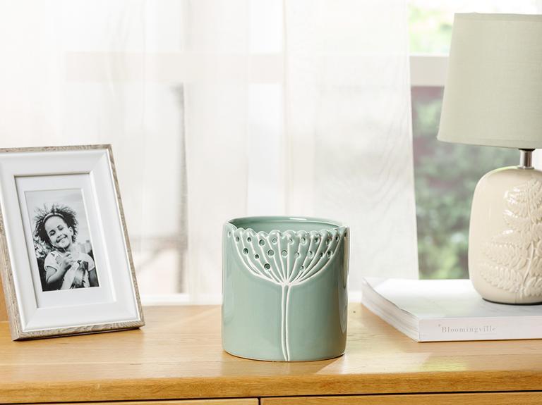 Dandelion Saksı 10x10x10.4 Cm Yeşil