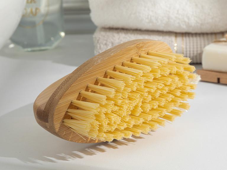 Allure Bambu Temizlik Fırçası 13x7x9.5cm Kahve