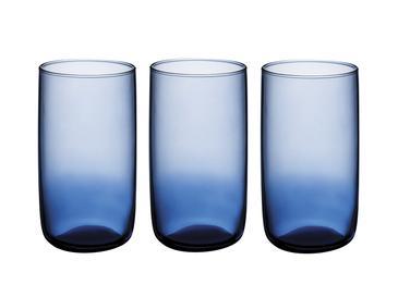 Blue Nature Cam 3'lü Meşrubat Bardağı 365 Ml Mavi