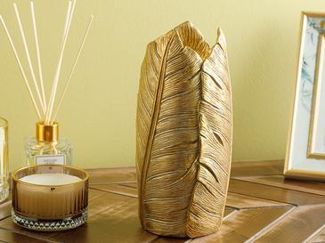 Banana Leaf Vazo 11x11x23.8cm Gold