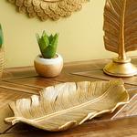 Banana Leaf Dekoratif Tabak 15.8x28.9x2.6cm Gold