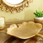 Gingko Dekoratif Tabak 23x23.8x3.8cm Gold