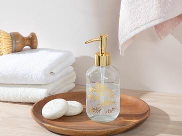 Cow Parsley Cam Banyo Sıvı Sabunluk 7x7x18 Cm Gold