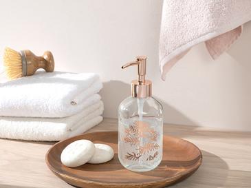 Cow Parsley Cam Banyo Sıvı Sabunluk 7x7x18 Cm Rose Gold