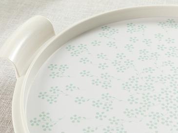 Dande Melamin Plastik Kapaklı Kek Fanus 31 Cm Yeşil