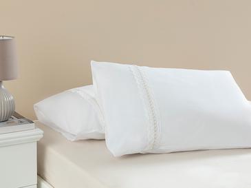 Nancy Kopanakili 2'li Yastık Kılıfı 50x70 Cm Beyaz