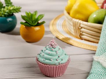 Spotty Cupcake Mum 9x9x9 Cm Yeşil