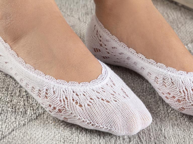Fairy Pamuk Kadın Çorap Beyaz