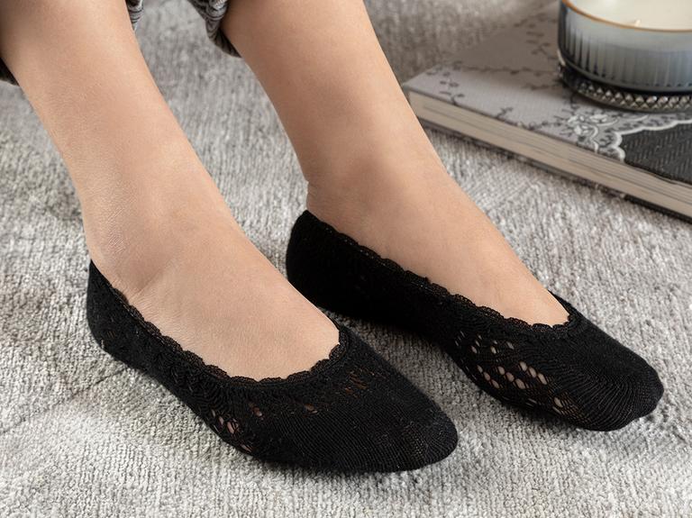 Fairy Pamuk Kadın Çorap Siyah