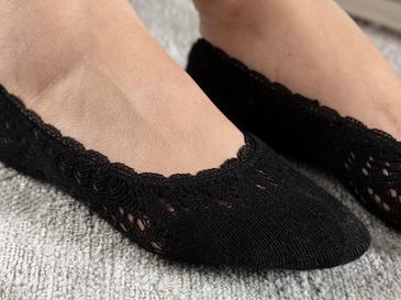 Fairy Pamuk Kadın Babet Çorap Siyah