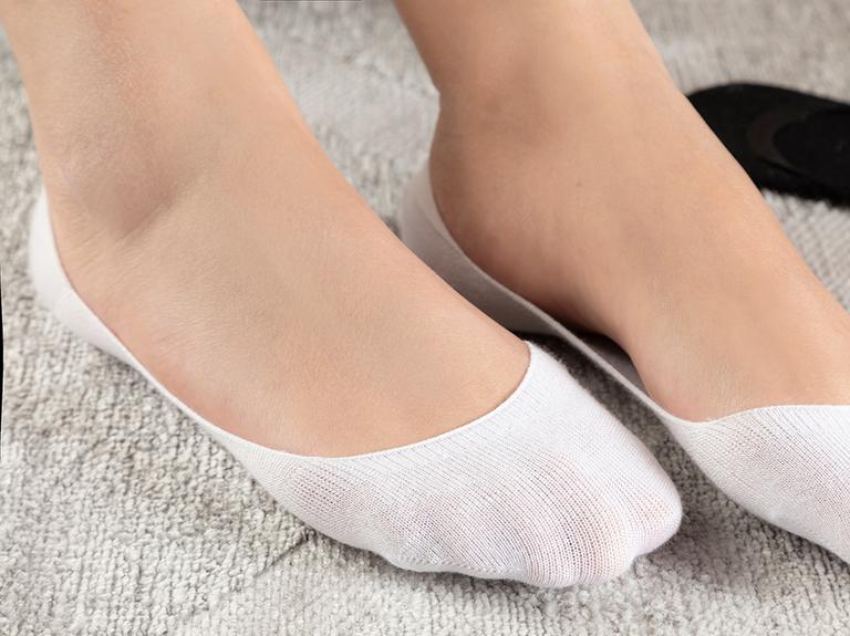 Simplicity Bambu 2'li Kadın Çorap Siyah- Beyaz