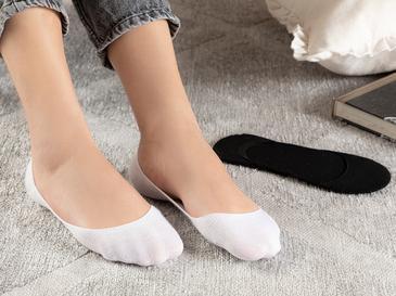 Simplicity Bambu 2'li Kadın Babet Çorap Siyah- Beyaz