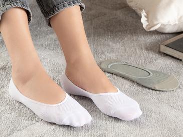 Eldora Polyamid 2'li Kadın Babet Çorap Beyaz- Gri