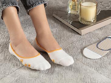 Funny Pamuk 2'li  Kadın Babet Çorap