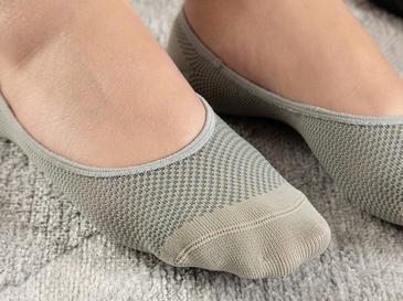 Eldora Polyamid 2'li Kadın Babet Çorap Siyah- Gri