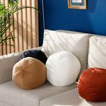 Ball Fitilli Dekoratif Kırlent 40 Cm Lacivert