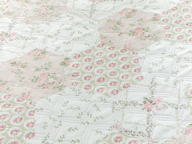 Timeless Floral Çift Kişilik Çok Amaçlı Yatak Örtüsü 200x220 Cm Pembe