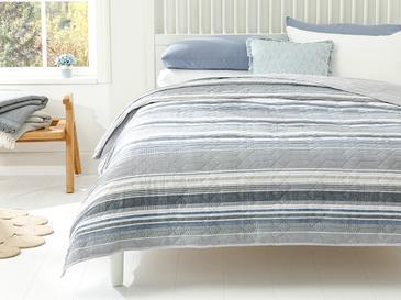 Timeless Stripe Çift Kişilik Çok Amaçlı Örtü 200x220 Cm Mavi