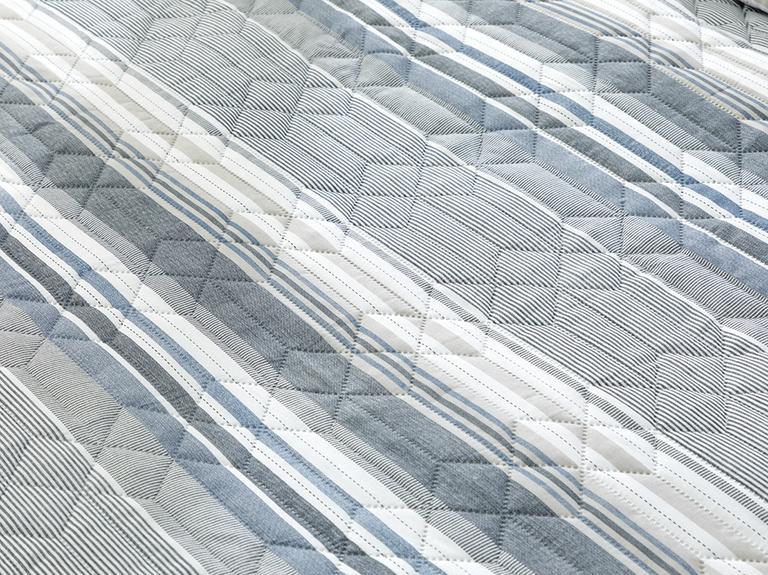 Timeless Stripe King Size Çok Amaçlı Yatak Örtüsü 240x220 Cm Mavi
