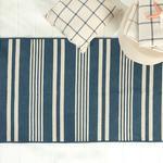 Modern Stripe Pamuklu Kilim 120x180 Cm İndigo