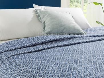 Blueblanc Baskılı King Size Pike 220x240 Cm Lacivert