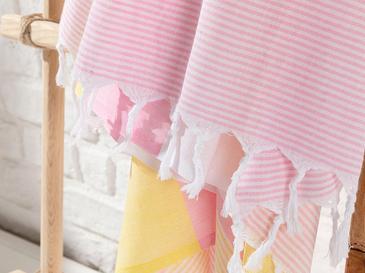 Royal Stripe Pamuk Peştamal 95x165 Cm Pembe - Sarı