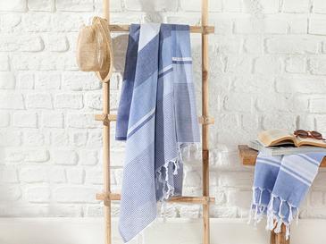 Royal Stripe Pamuk Peştamal 95x165 Cm Lacivert- Mavi