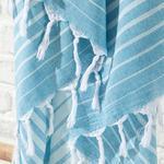 Shadow Pamuk Peştamal 95x165 Cm Lacivert- Mavi