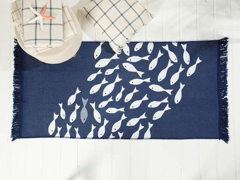 Little Fish Dokuma Kilim 120x180 Cm Lacivert