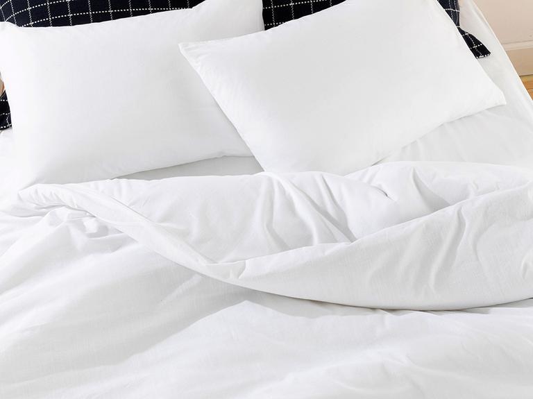 Moderna Düz Flamlı Çift Kişilik Nevresim Takımı 200x220 Cm Beyaz