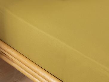 Düz Pamuk Çift Kişilik Lastikli Çarşaf Takımı 160x200 Cm Kivi Yeşili