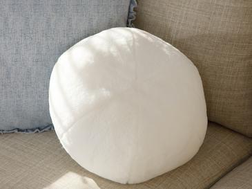 Ball Peluş Dekoratif Kırlent 40 Cm Ekru