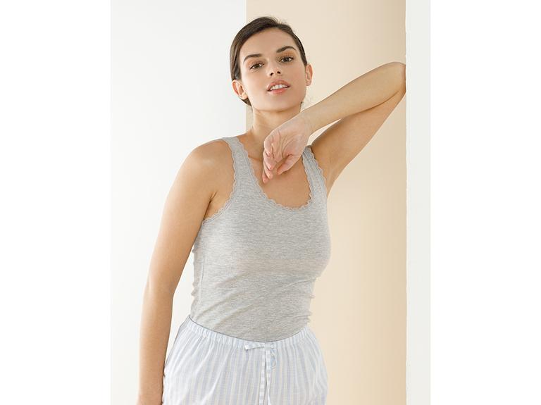 Basic Cotton Kalın Askılı Pamuklu Kadın Atlet L Gri